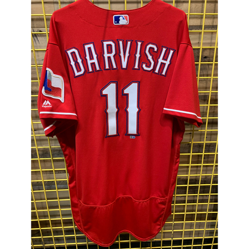 Photo of Yu Darvish Team-Issued Red Jersey From 2017 Season
