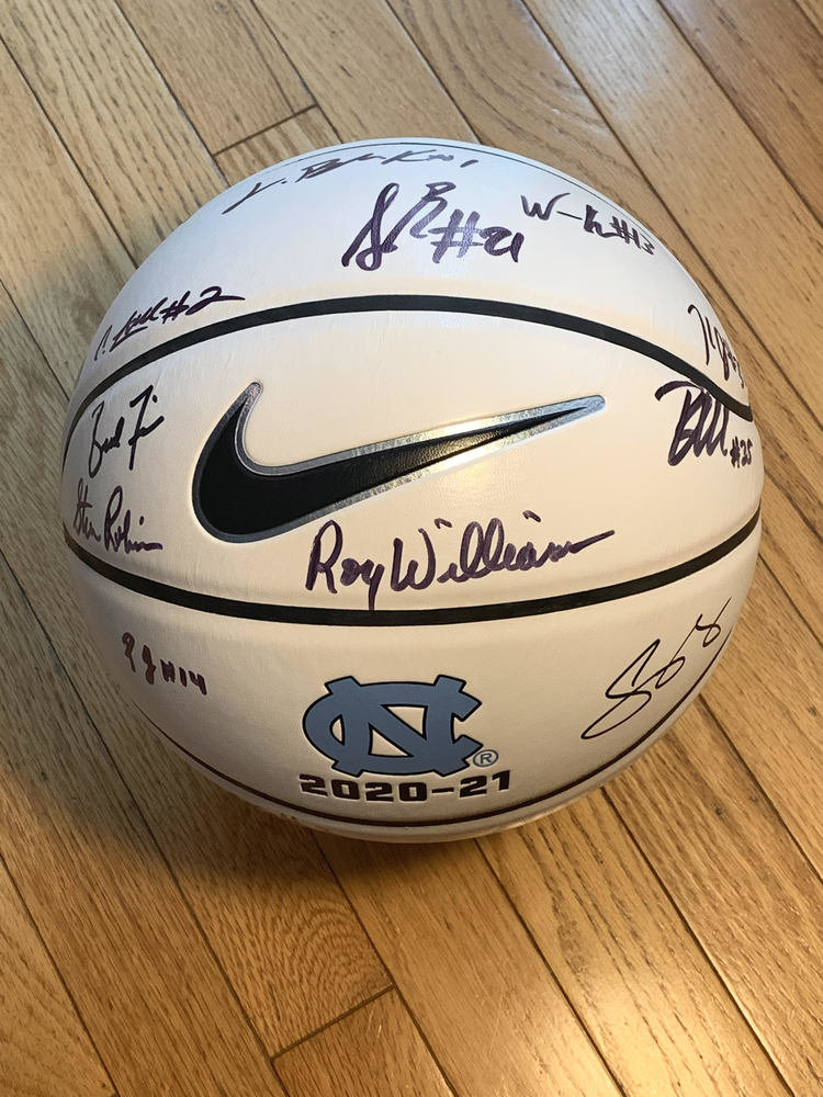 LIONS -  UNC Roy Williams and 2020-21 Team Signed Basketball