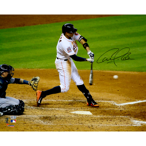 "Photo of Carlos Correa Houston Astros Autographed 16"" x 20"" White Hitting Photograph"