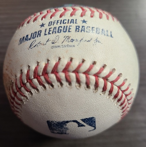 Photo of Authenticated Game Used Baseball: Strikeout by Steven Matz against Jahmai Jones (Sep 1, 2021 vs BAL). Top 4.