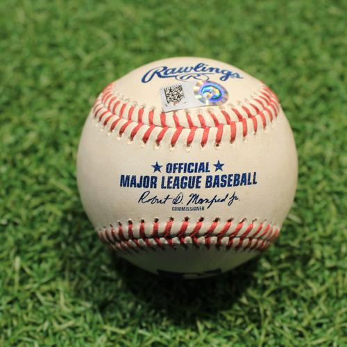Photo of Game-Used Baseball: Yimi Garcia 228th Career Strikeout (HOU@KC 8/16/21)