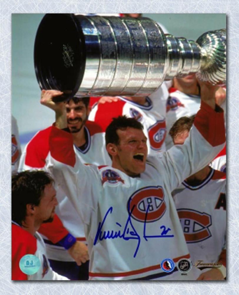 Vincent Damphousse Montreal Canadiens Autographed 1993 Stanley Cup 8x10 Photo