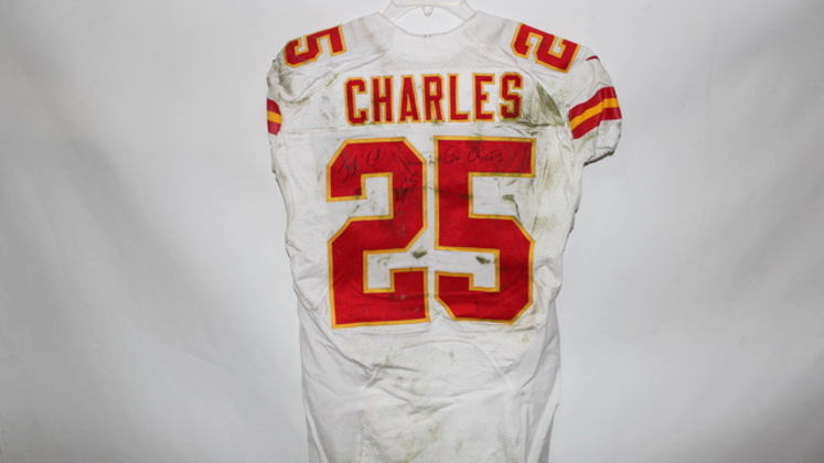NFL Auction | JAMAAL CHARLES GAME WORN AND AUTOGRAPHED CHIEFS ...
