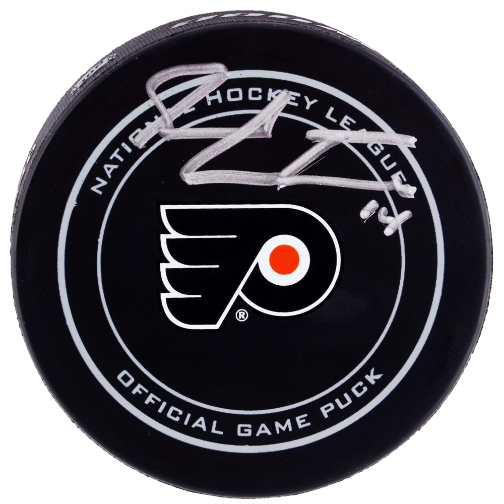 Sean Couturier Philadelphia Flyers Autographed Official Game Puck