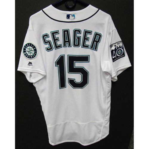 Photo of Kyle Seager Game-Used White Jersey - 6-22-2017 - Size 46