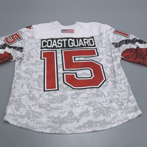 "Photo of Ohio State Ice Hockey Military Appreciation Jersey #15 ""Coast Guard"" / Size 56"