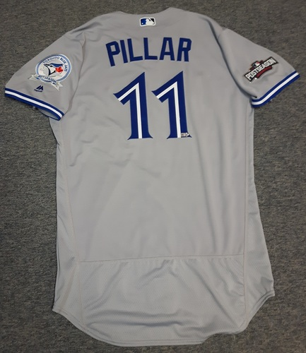 Photo of Authenticated Team Issued Jersey - #11 Kevin Pillar (2016 Postseason). Size 44