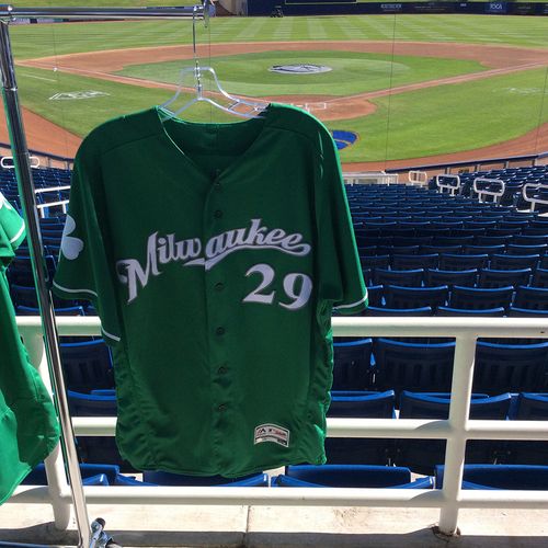 Photo of Christian Bethancourt 2018 Team-Issued St. Patrick's Day Jersey