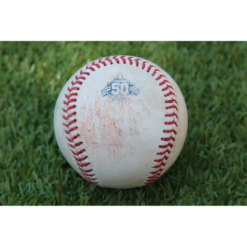 Photo of Game-Used Baseball: C.J. Cron 404th Career Hit and Joey Wendle 61st Career Hit (TB @ KC- 5/16/18)