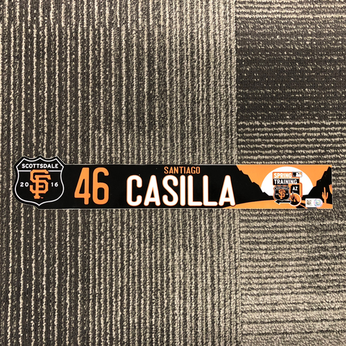 Photo of San Francisco Giants - 2016 Spring Training Locker Tag - Santiago Casilla