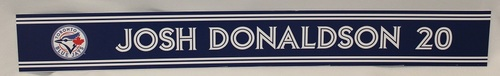 Photo of Authenticated Game Used 2018 Locker Name Plate - #20 Josh Donaldson