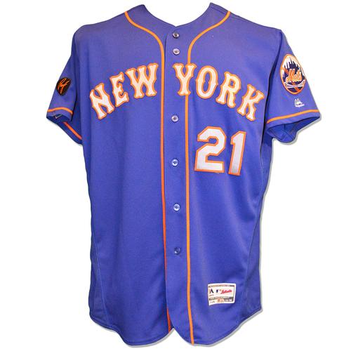 Photo of Todd Frazier #21 - Game Used Blue Alt. Road Jersey - Mets vs. Phillies - 9/19/18
