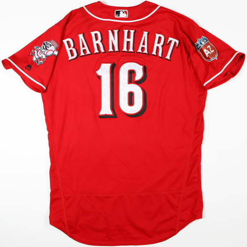 2016  Spring Training -  Spring Training Used Jersey -  Tucker Barnhart (Reds) - Size 46