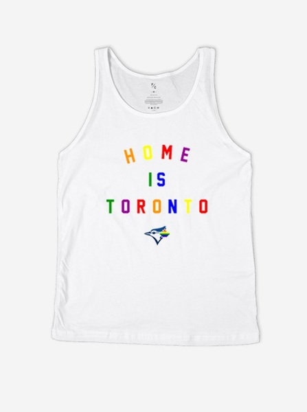 Toronto Blue Jays Home is Toronto Pride Tank by Peace Collective