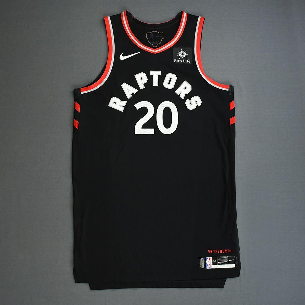 Jodie Meeks - Toronto Raptors - 2019 NBA Finals - Game 3 - Game-Worn Black Statement Edition Jersey
