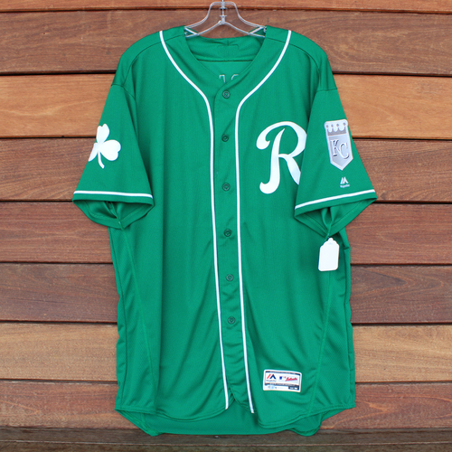Game-Used Saint Patrick's Day Jersey: Mike Jirschele (KC @ SF - 3/17/19) (Size 50)