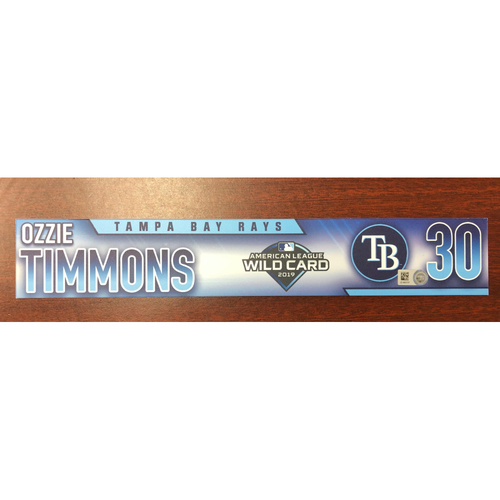 Photo of Game Used A.L. Wild Card Locker Tag: Ozzie Timmons