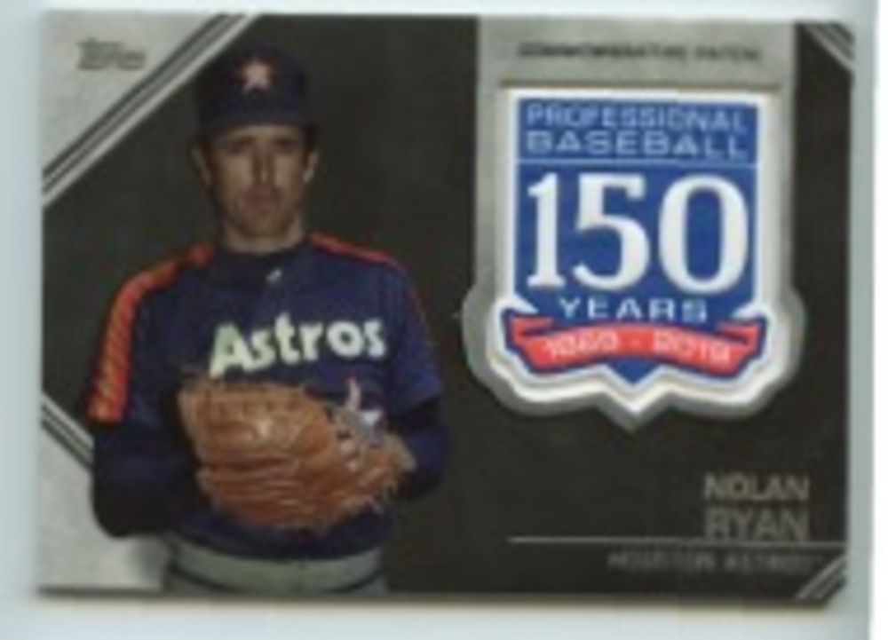 2019 Topps Update 150th Anniversary Manufactured Patches #AMPNR Nolan Ryan