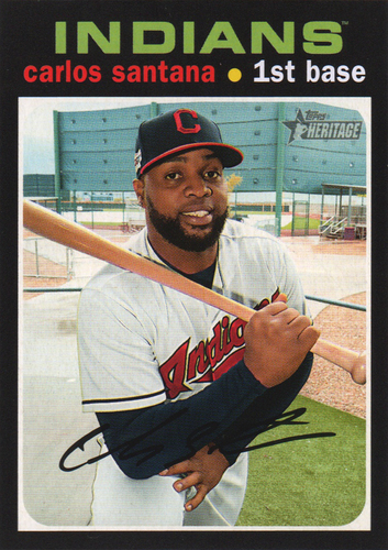 Photo of 2020 Topps Heritage #56 Carlos Santana