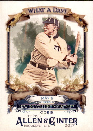 Photo of 2017 Topps Allen and Ginter What a Day #WAD60 Ty Cobb