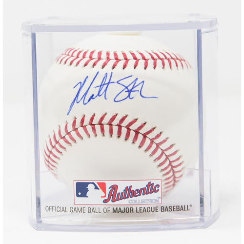 Photo of Matt Strahm Autographed Baseball