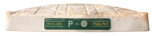 Photo of Game-Used 2nd Base -- Used in Innings 1 through 9 -- Pirates vs. Cubs -- 7/31/20