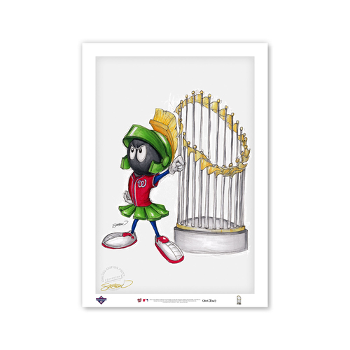 Photo of Bubblegum Bugs Bunny - Nationals - Limited Edition Print of 100 by Artist S. Preston