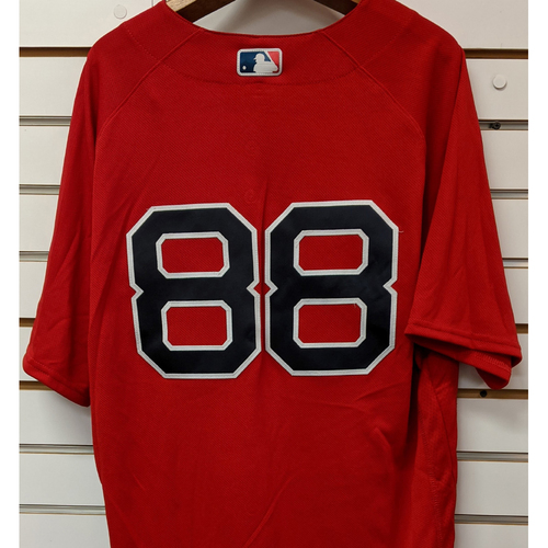Photo of Martinez #88 Team Issued Red Home Alternate Jersey