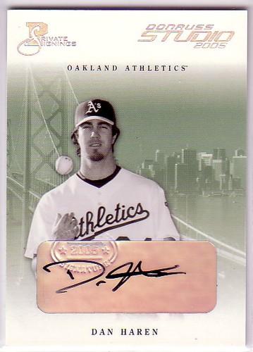 Photo of 2005 Studio Private Signings Silver #202 Dan Haren
