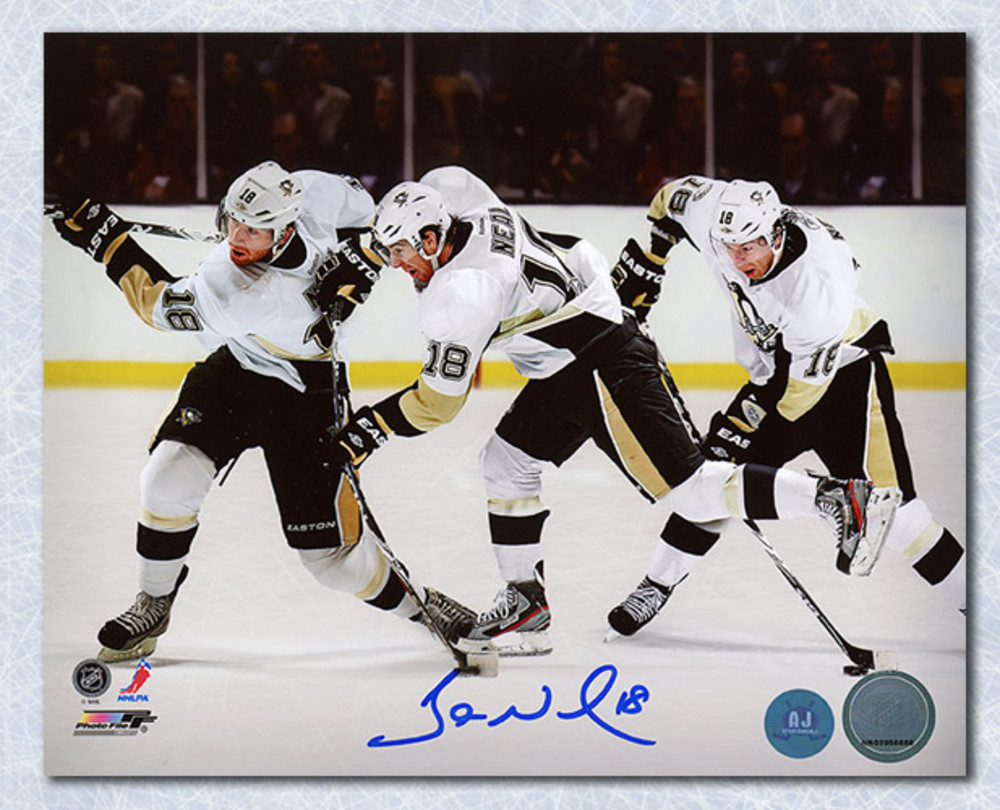 James Neal Pittsburgh Penguins Autographed Multi Exposure 8x10 Photo
