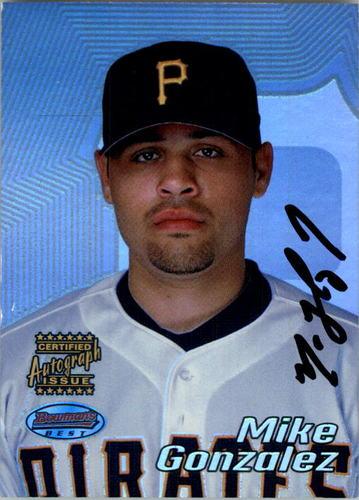 Photo of 2002 Bowman's Best #143 Mike Gonzalez AU A RC