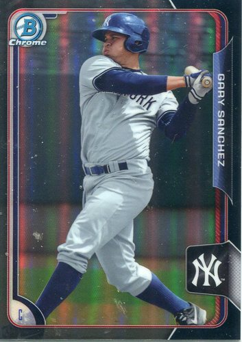 Photo of 2015 Bowman Chrome Prospects Black Asia Refractor Gary Sanchez