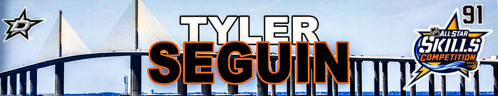 Tyler Seguin Dallas Stars Event-Used #91 Locker Nameplate from All-Star Skills Competition