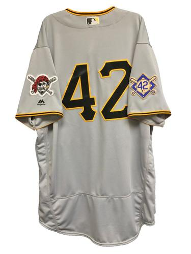 Photo of Ivan Nova Game-Used 2018 Jackie Robinson Day Jersey - 6.2 IP, 6 H, 3 ER, 9 SO, Winning Pitcher