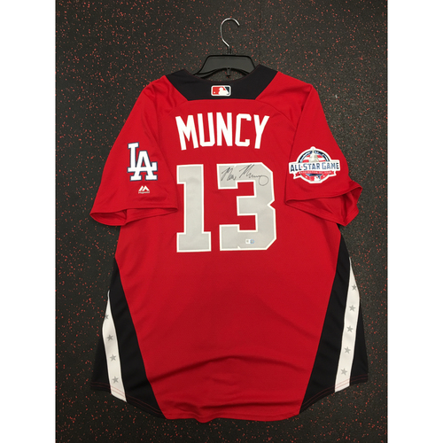 Photo of Max Muncy 2018 Major League Baseball Workout Day Autographed Jersey