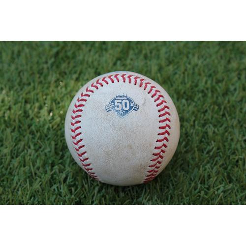 Photo of Game-Used Baseball: Andrew Benintendi 282nd Career Hit (BOS @ KC - 7/8/18)