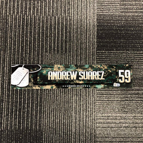 Photo of San Francisco Giants - 2018 Memorial Day Locker Tag - Andrew Suarez