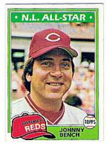 Photo of 1981 Topps #600 Johnny Bench