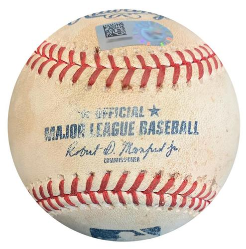 Photo of Game-Used Baseball from Pirates vs. Mets on 7/28/18 - Jacob deGrom Pitches to Four Batters