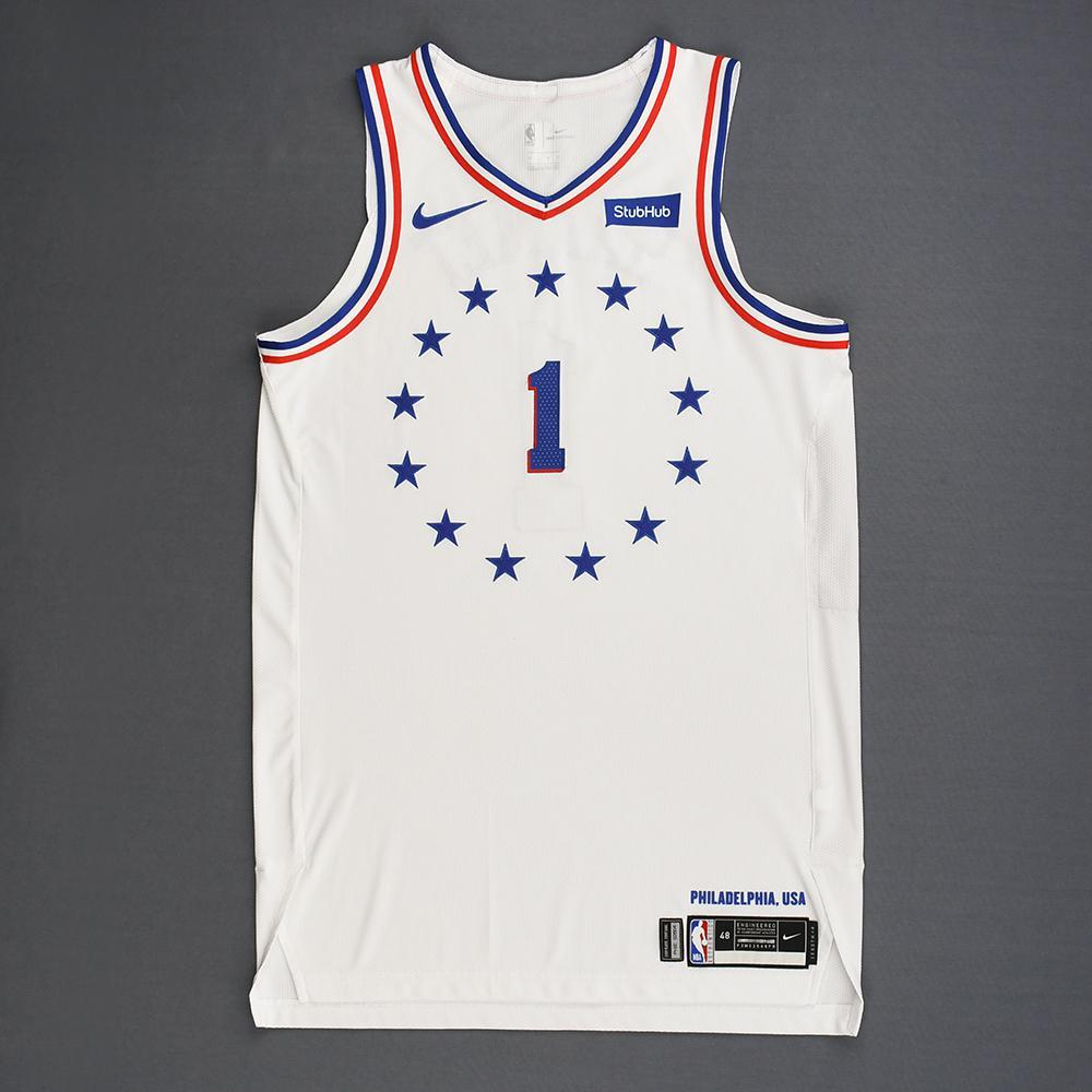 Landry Shamet - Philadelphia 76ers - Christmas Day' 18 - Game-Worn Earned City Edition Jersey