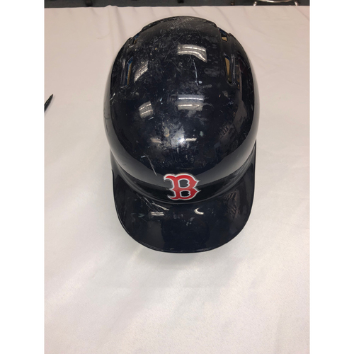 Photo of Rafael Devers Game Used October 23, 2018 World Series Game 1 Batting Helmet