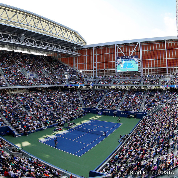 Clickable image to visit Package #1: Tickets to the US Open Men's Semi-finals & 2 Night Stay at the InterContinental Barclay in New York City