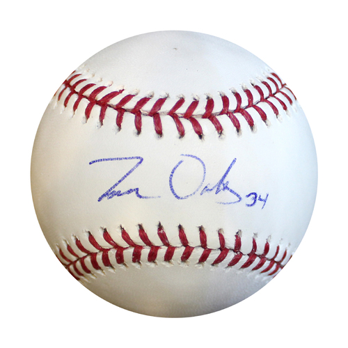 Photo of Autographed Baseball: Trevor Oaks