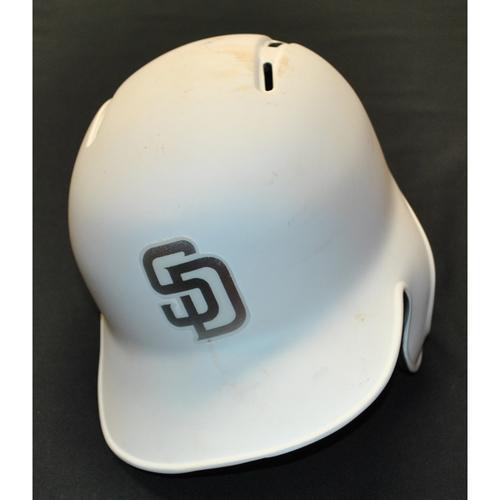 """Photo of Manuel """"Yoandry"""" Margot San Diego Padres Game-Used 2019 Players' Weekend Helmet"""