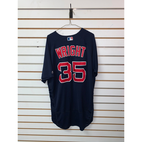 Photo of Steven Wright Game Used September 21, 2018 Road Alternate Jersey