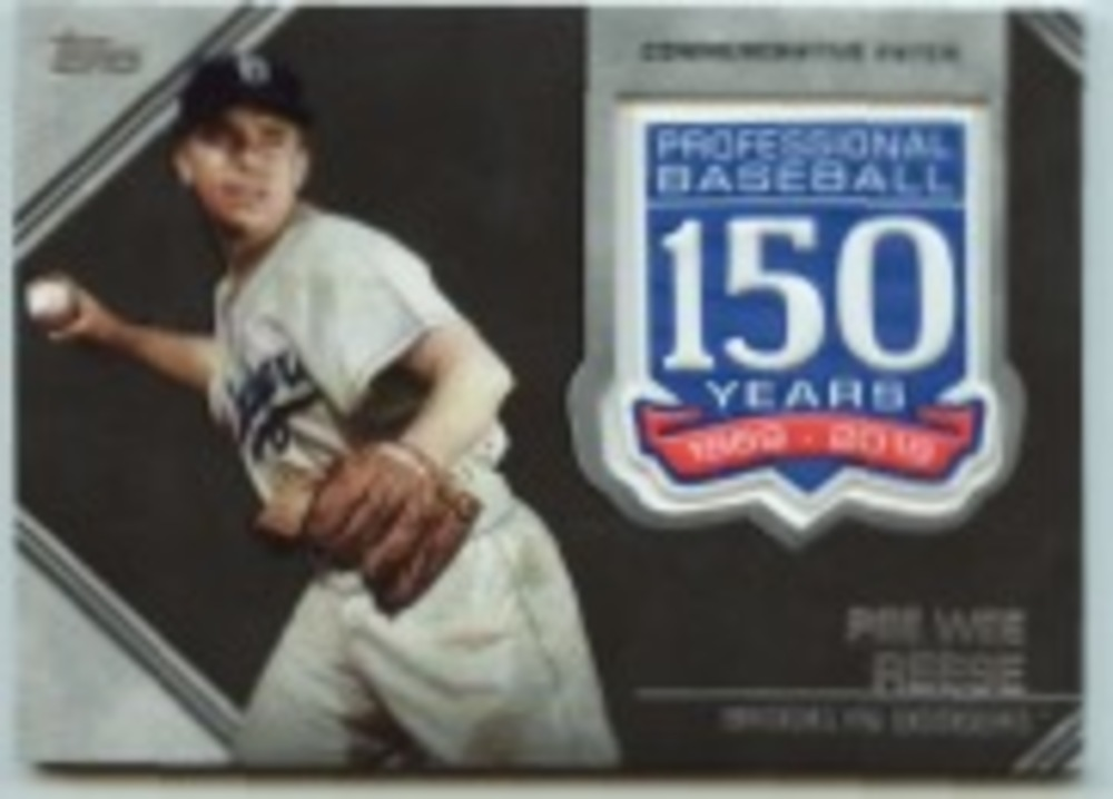 2019 Topps Update 150th Anniversary Manufactured Patches #AMPPR Pee Wee Reese