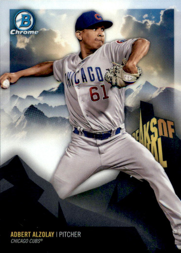 Photo of 2018 Bowman Chrome Peaks of Potential Refractors #PPAAL Adbert Alzolay