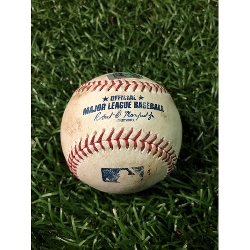 Photo of Game Used Baseball: Travis d'Arnaud strikeout and Tommy Pham foul ball off Chris Sale - July 23, 2019 v BOS