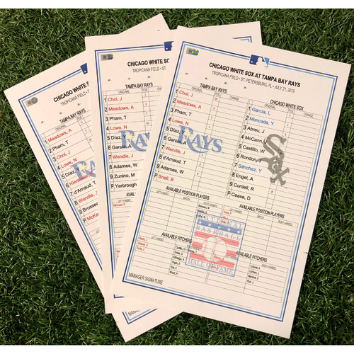 Photo of Replica Lineup Card Package: July 19-21, 2019 v CWS