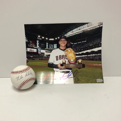 Photo of Nick Ahmed Autographed Baseball and 8x10 Photo